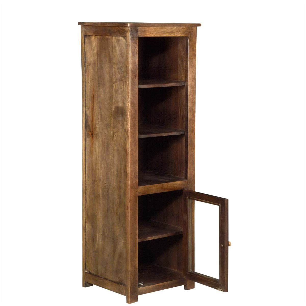 Timeless Solid Hardwood Mission Storage Tower Cabinet