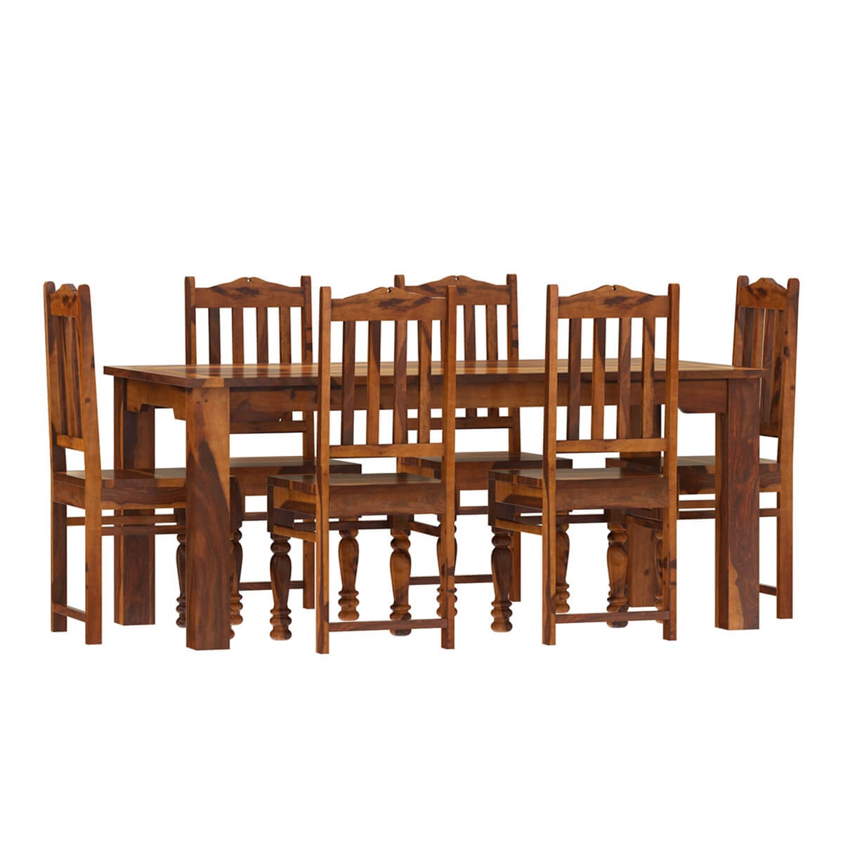 Rustic Dining Chairs Rustic Solid Wood Dallas Dining Table With Chairs Set