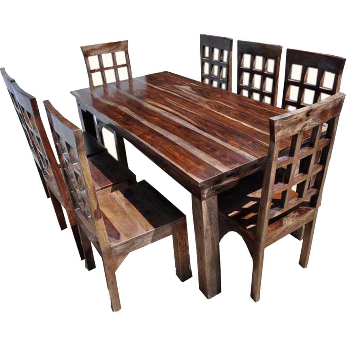 Dining Chairs Set Farmhouse Solid Wood Dining Table Chairs And Sideboard Set