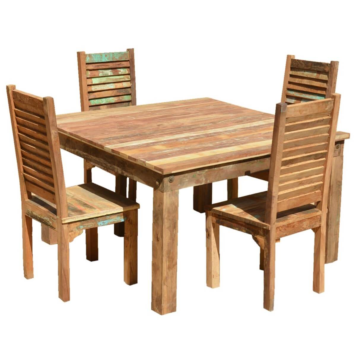barnwood dining room chairs director chair covers freedom ohio reclaimed wood furniture table and shutter back