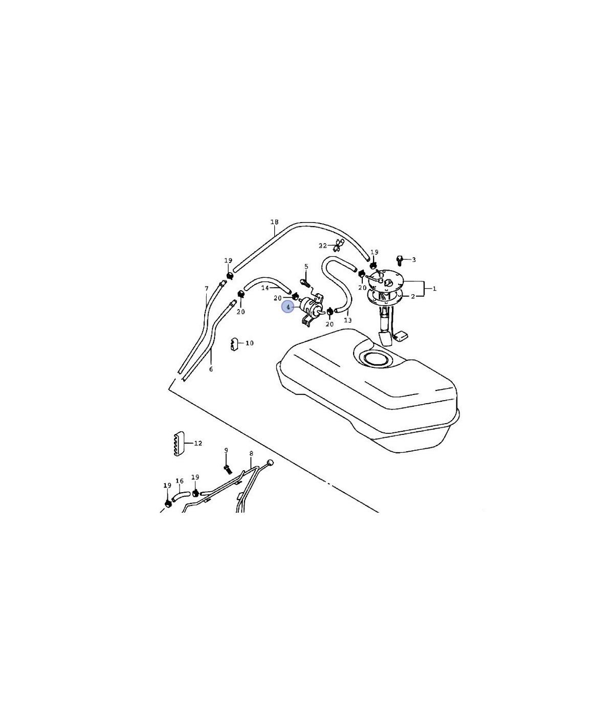 Filtro de bencina ( WK-614/38) CHINA