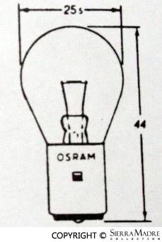 Porsche Parts Light Bulb, 6 Volt/15W