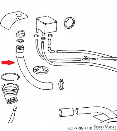 Porsche Parts Fuel Tank Filler Neck (65-86)