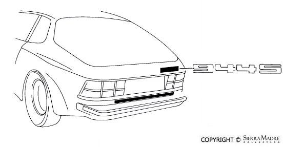 Porsche Parts 944S Emblem, Black (85-88)