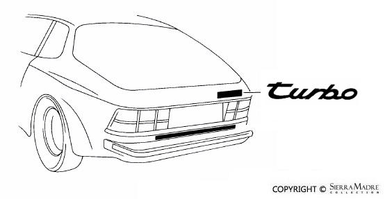 Porsche Parts 944 Turbo Emblem, Black (85-91)
