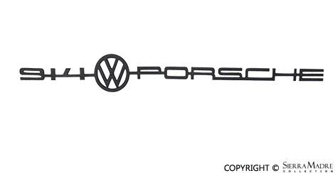 Porsche Parts Black VW/Porsche Emblem, 914 (70-73)