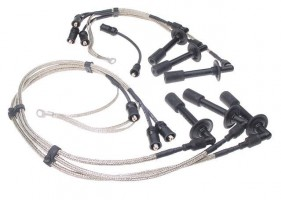 Porsche Parts Spark Plug Wire Set, Stainless Braided Wires