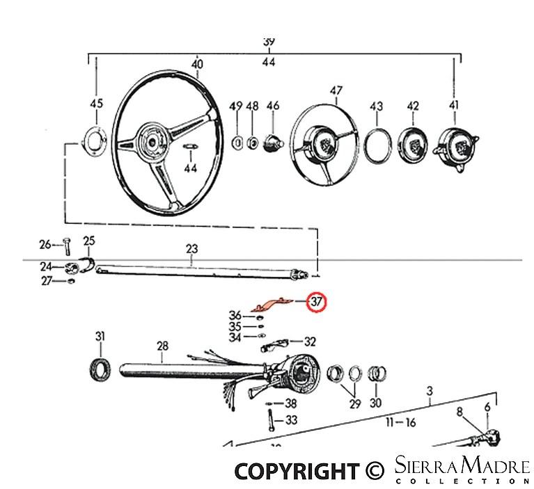 Porsche Parts Lock Ring, 356B/356C (60-65)