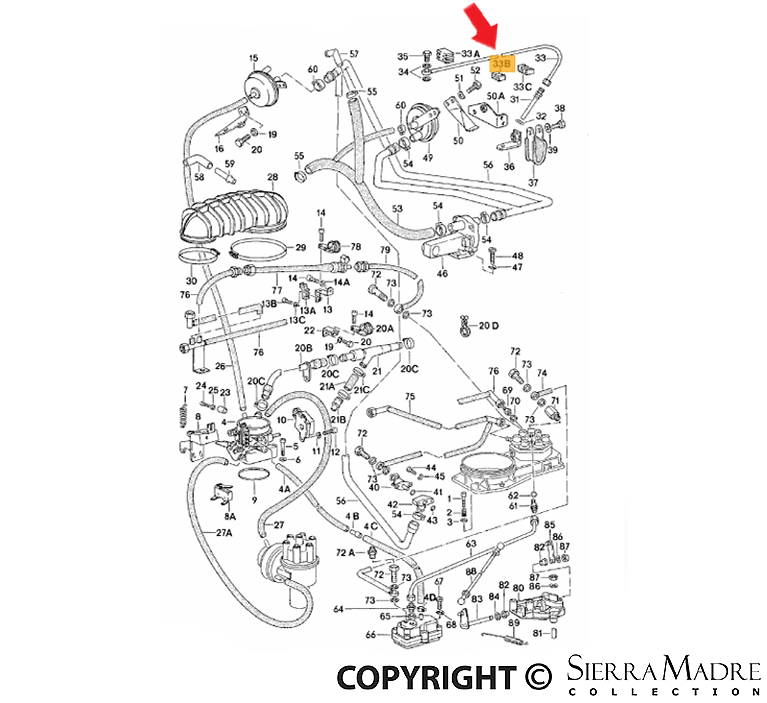 Porsche Parts Fuel Line Holding Bracket, 911 (78-94)