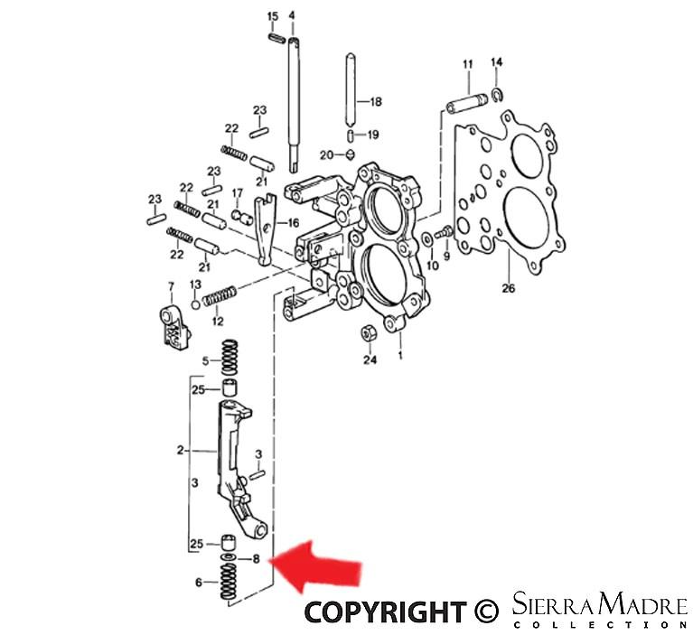 Porsche Parts Fit Washer, 911/964/993 (87-94)