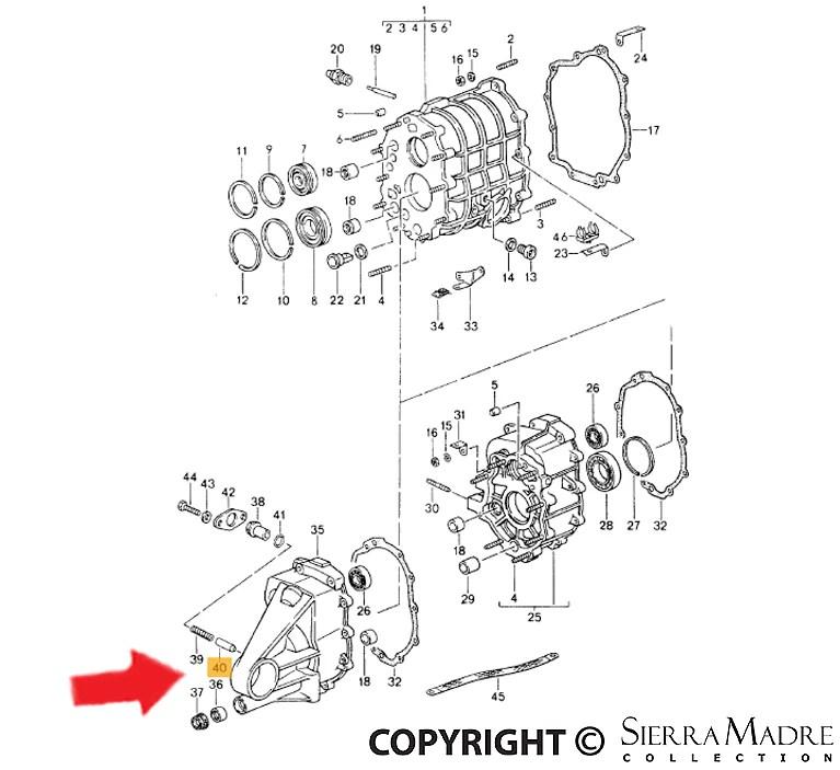 Porsche Parts Transmission Bushing, 964/993 (89-98)