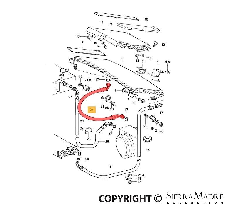 Porsche Parts A/C Hose, 911 (84-89)