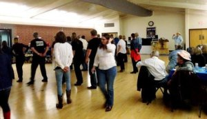 Line dancing at the 2015 Sierra Madre Kiwanis Boot Scootin Chili Cook Off