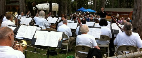 Performing in the park for Music on the Divide