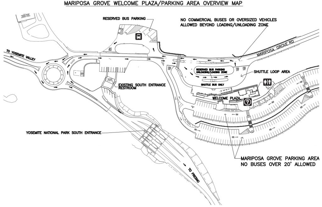 Mariposa Grove Welcome Plaza Overview Map