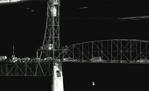 Bridge seen in infrared