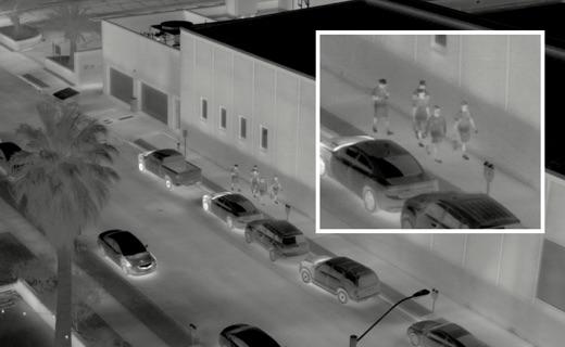 street surveillance in infrared