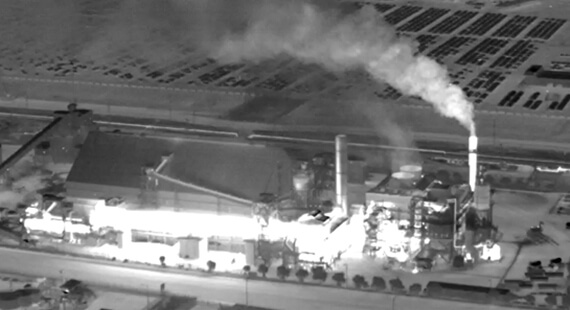 Image of factory taken by Vayu HD thermal camera