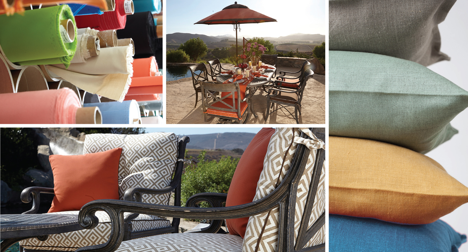 creating luxury outdoor spaces. custom outdoor patio furniture cushions  pillows simi valley