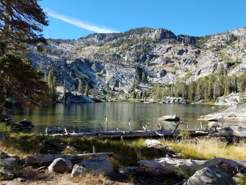 snow lake Desolation wilderness