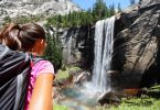 Vernal falls Yosemite National park Female hiker