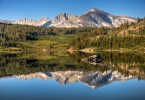 Mammoth Peak Reflecting On Tioga Lake