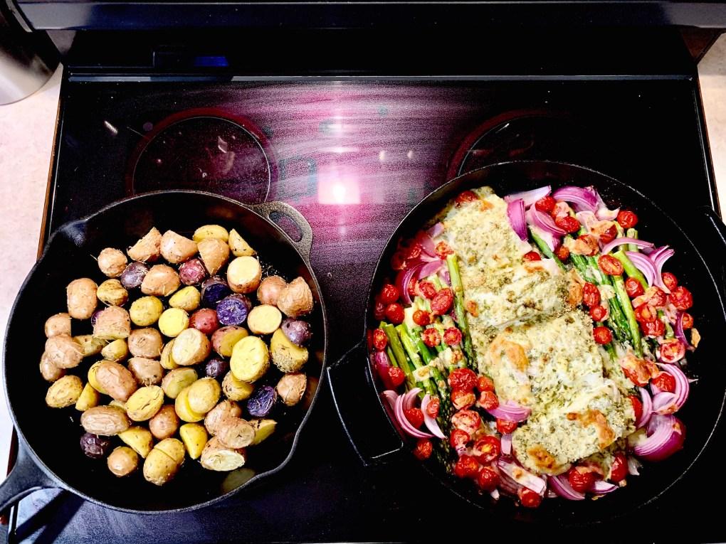 cod and heirloom potatoes