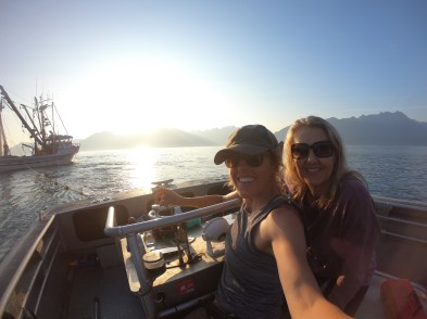 mom visiting me on the skiff