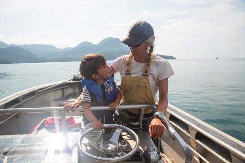 roku fishing with sierra on skiff