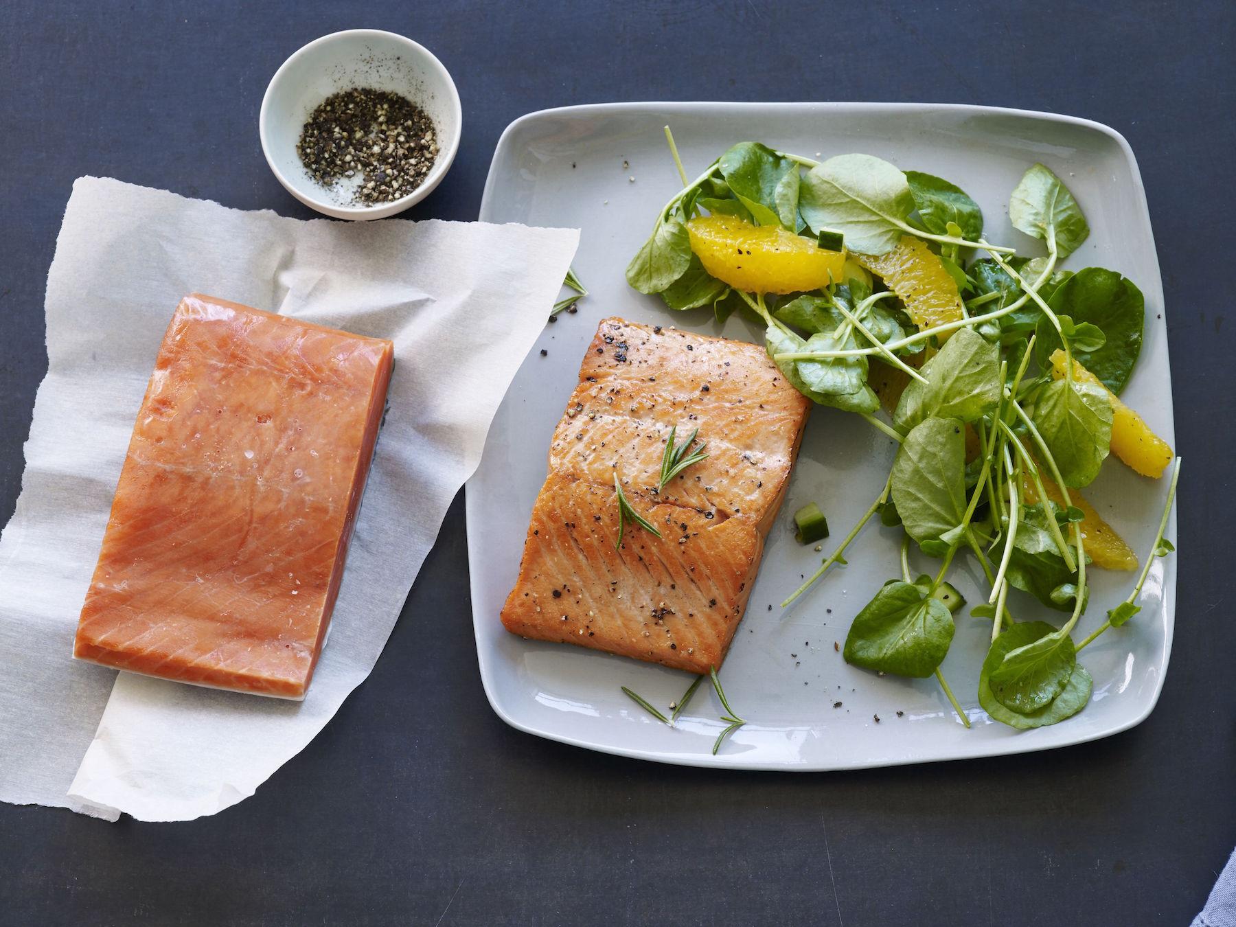 frozen to fork alaska salmon
