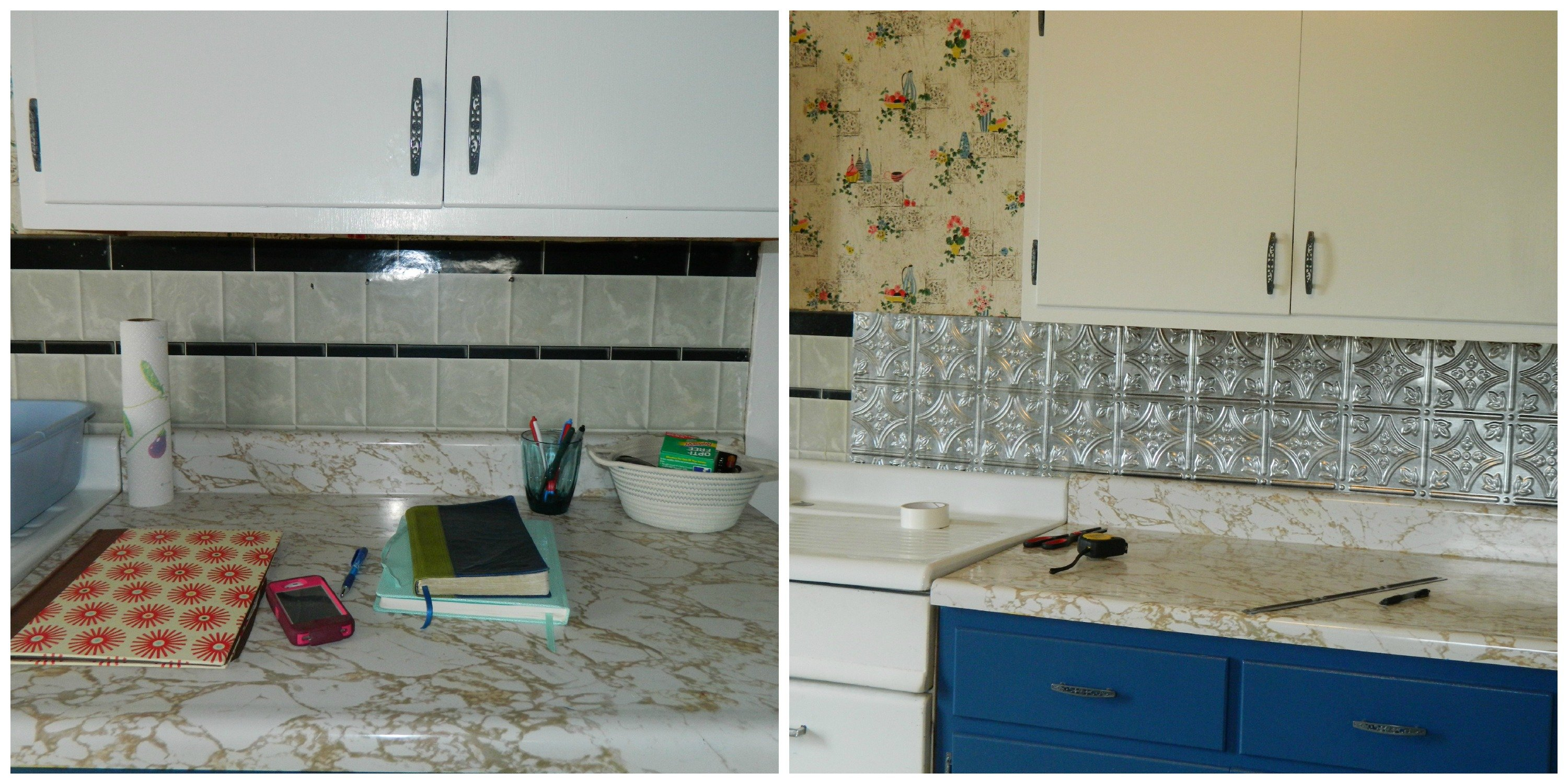 DIY 5 Steps To Kitchen Backsplash No Grout Involved