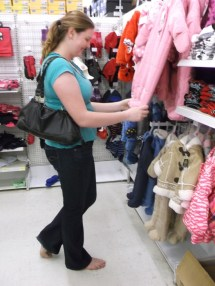 Barefoot Girl Shopping