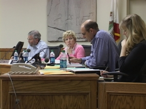 Sally Symons, shown here with the Water Commission.