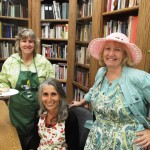 From left, volunteers Linda Ellsworth and Tamara Cohn with FECM Board Member Sharon Avey, all of Independence, take a break in the Museum from serving at last year's picnic. Photo by Jon Klusmire