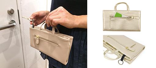 お財布ショルダーが便利すぎる!スマホが入る長財布「ルーキャレット」