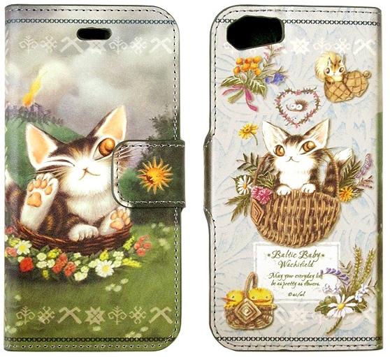 iPhoneケースを新調しましょ♪ダヤンのブック型アイフォンケース。