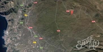 Карта расположения площадки для пикника на Тенерифе