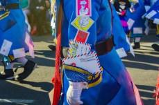Главное шествие карнавала на Тенерифе в 2016 году — фрагмент костюма почтальонов