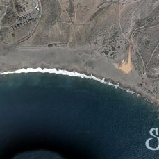 Вид со спутника на пляж Ла Техита