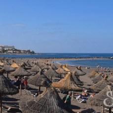 Пляж Троя вблизи