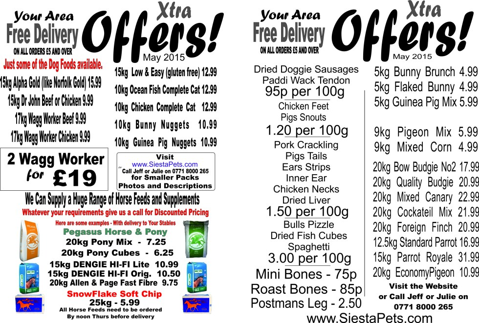 extra offer may 2015 for front page