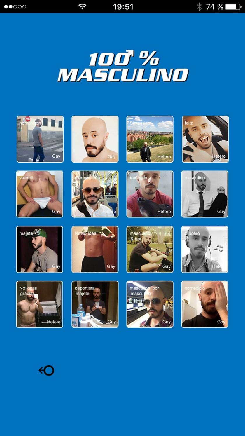 """Cien por cien masculino"" , aplicación para móvil de Santi Ruiz"