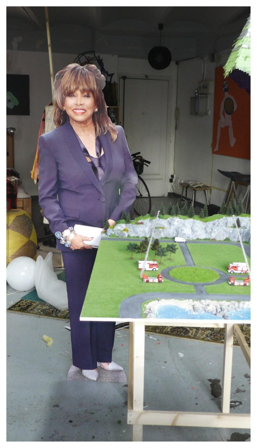 Maqueta de Carles Congost,de su proyecto para Manifesta, con Tina Turner como coprotagonista