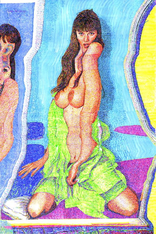 """Ondina"", lienzo de la serie ""Erótica"" (2016), de Alejandro Bombín"