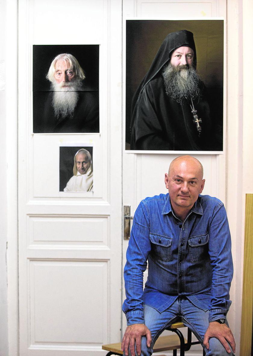 Pierre Gonnord en su estudio madrileño (Foto: Angel de Antonio)