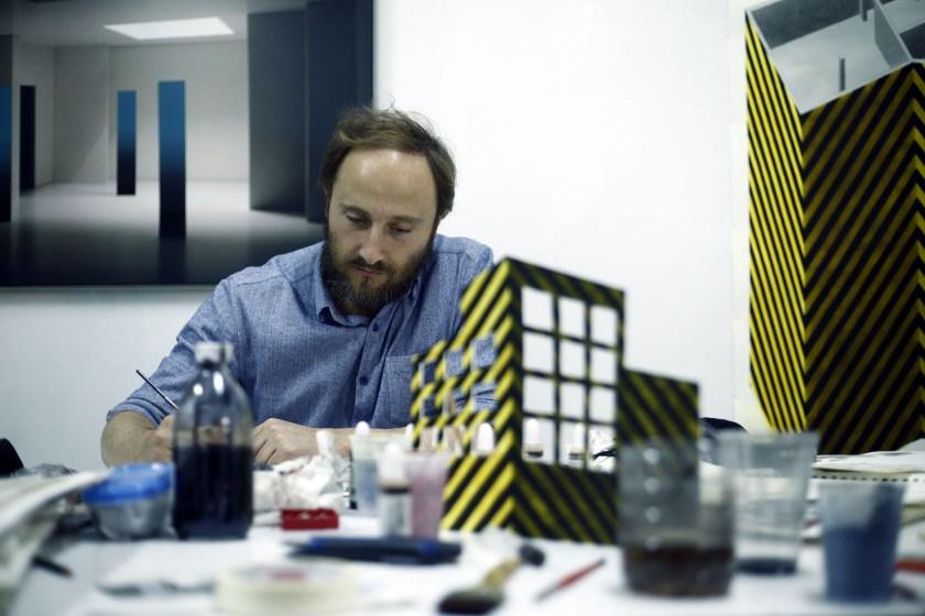 Manuel Saro, concentrado en su trabajo
