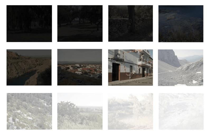 """Fotografías de la instalación """"Moviendo las imágenes dormidas hacia la luz"""" (En proceso)"""
