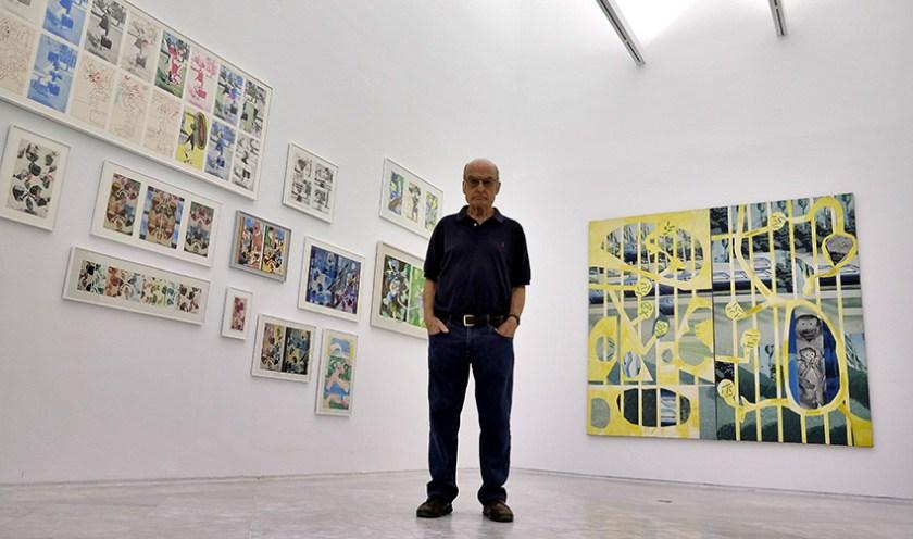 Luis Gordillo en el CAAC (Fotos: J. M. Serrano)