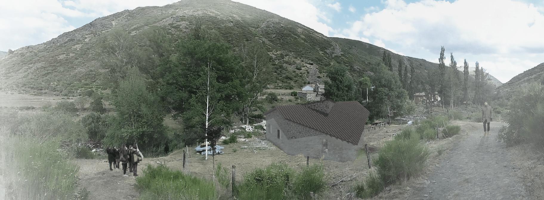 sietequince proyecto refugio espigüete montaña exterior panorámica