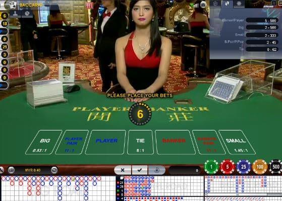 casino trực tuyến M88 hấp dẫn với người chia bài thật xinh đẹp
